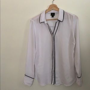 white and black button up
